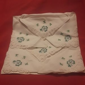 Set of 6 Vintage women's handkerchief